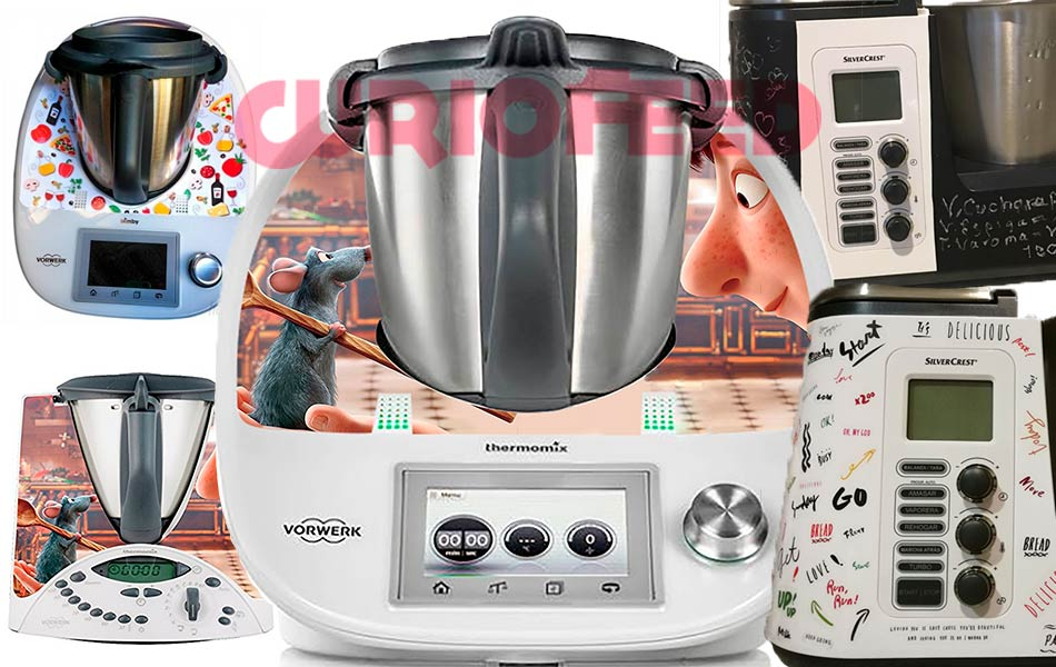 Pegatinas y vinilos en robots de cocina Thermomix y Monsieur Cuisine